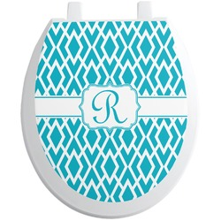 Geometric Diamond Toilet Seat Decal (Personalized)