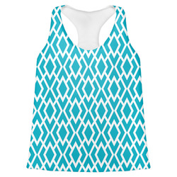 Geometric Diamond Womens Racerback Tank Top (Personalized)