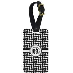 Houndstooth Aluminum Luggage Tag (Personalized)