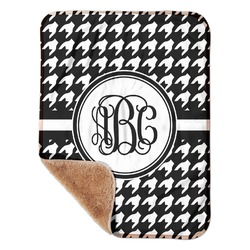 """Houndstooth Sherpa Baby Blanket 30"""" x 40"""" (Personalized)"""