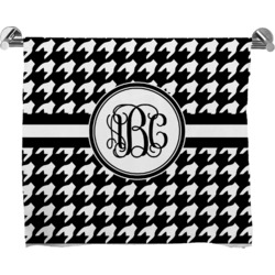 Houndstooth Full Print Bath Towel (Personalized)