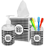 Houndstooth Bathroom Accessories Set (Personalized)