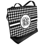 Houndstooth Beach Tote Bag (Personalized)