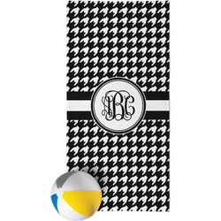 Houndstooth Beach Towel (Personalized)