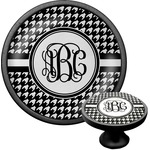 Houndstooth Cabinet Knob (Black) (Personalized)