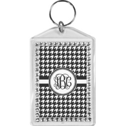 Houndstooth Bling Keychain (Personalized)
