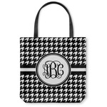 Houndstooth Canvas Tote Bag (Personalized)