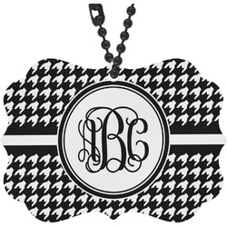 Houndstooth Rear View Mirror Charm (Personalized)