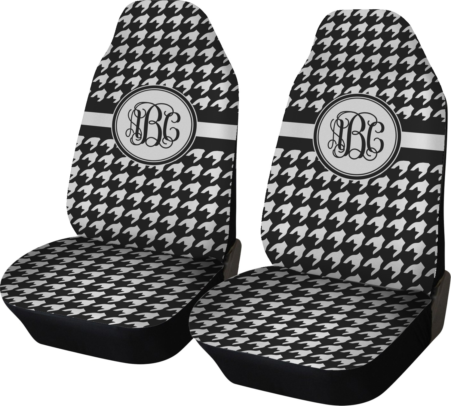Houndstooth Car Seat Covers Set Of Two Personalized