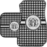 Houndstooth Car Floor Mats (Personalized)