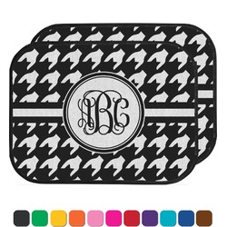 Houndstooth Car Floor Mats (Back Seat) (Personalized)