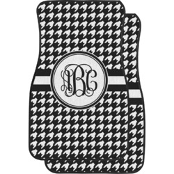 Houndstooth Car Floor Mats (Front Seat) (Personalized)