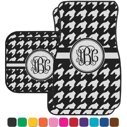 Houndstooth Car Floor Mats Set - 2 Front & 2 Back (Personalized)
