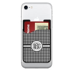 Houndstooth 2-in-1 Cell Phone Credit Card Holder & Screen Cleaner (Personalized)