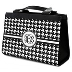 Houndstooth Classic Tote Purse w/ Leather Trim (Personalized)