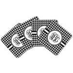Houndstooth Cork Coaster - Set of 4 w/ Monogram