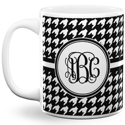 Houndstooth 11 Oz Coffee Mug - White (Personalized)