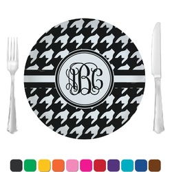 Houndstooth Glass Lunch / Dinner Plates 10