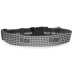 "Houndstooth Deluxe Dog Collar - Large (13"" to 21"") (Personalized)"