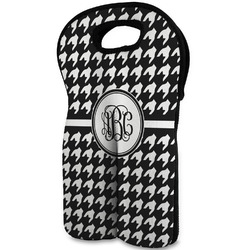 Houndstooth Wine Tote Bag (2 Bottles) (Personalized)