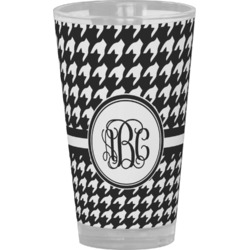 Houndstooth Drinking / Pint Glass (Personalized)
