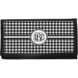 Houndstooth Canvas Checkbook Cover (Personalized)