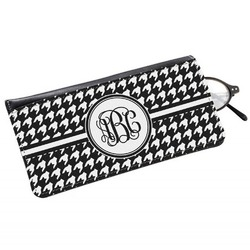 Houndstooth Genuine Leather Eyeglass Case (Personalized)