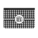 Houndstooth Genuine Leather ID & Card Wallet - Slim Style (Personalized)