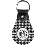 Houndstooth Genuine Leather  Keychains (Personalized)