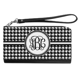 Houndstooth Genuine Leather Smartphone Wrist Wallet (Personalized)
