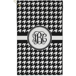 Houndstooth Golf Towel - Full Print - Small w/ Monogram