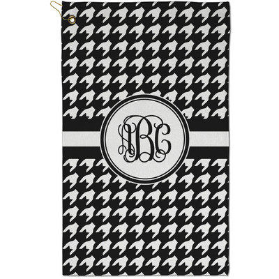 Houndstooth Golf Towel - Full Print - Small w/ Monogram