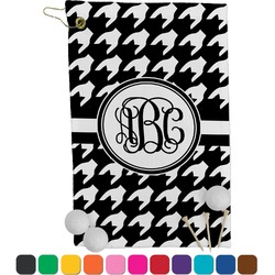 Houndstooth Golf Towel - Full Print (Personalized)