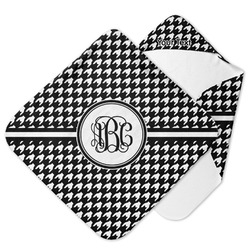 Houndstooth Hooded Baby Towel (Personalized)