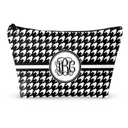 "Houndstooth Makeup Bag - Small - 8.5""x4.5"" (Personalized)"