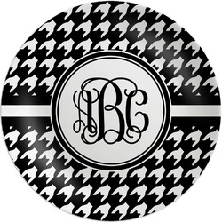 """Houndstooth Melamine Plate - 8"""" (Personalized)"""