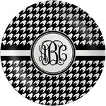 Houndstooth Melamine Plate (Personalized)