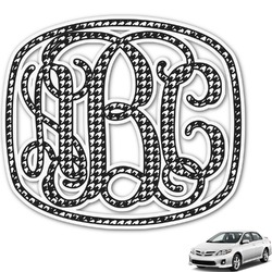 Houndstooth Monogram Car Decal (Personalized)