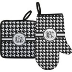 Houndstooth Oven Mitt & Pot Holder (Personalized)