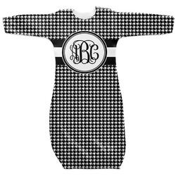 Houndstooth Newborn Gown (Personalized)