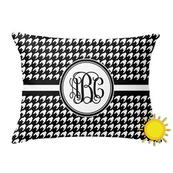 Houndstooth Outdoor Throw Pillow (Rectangular) (Personalized)