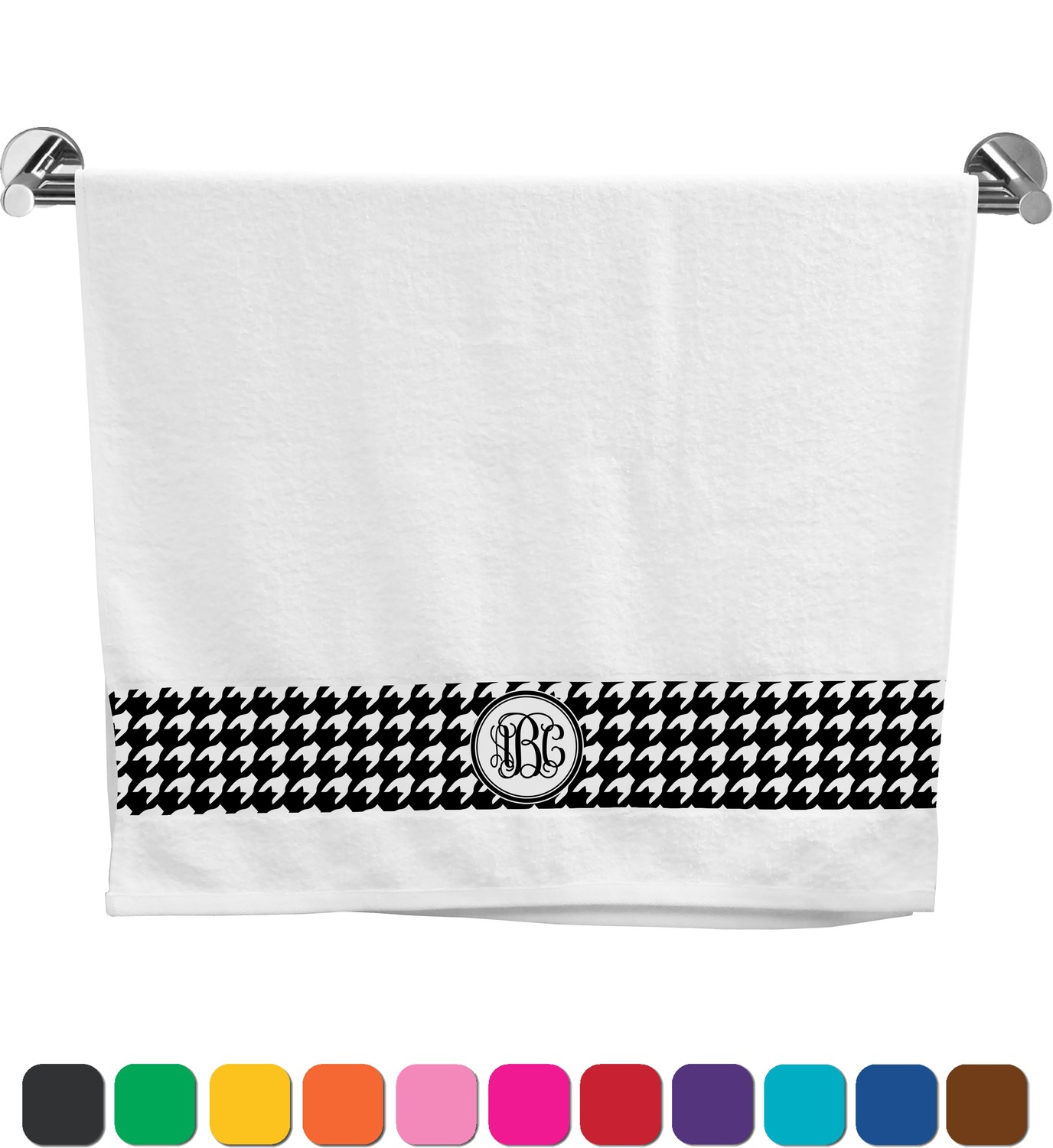Houndstooth Bath Towel (Personalized) - YouCustomizeIt