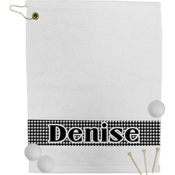 Houndstooth Golf Bag Towel (Personalized)