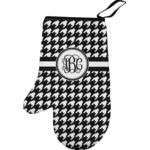 Houndstooth Left Oven Mitt (Personalized)