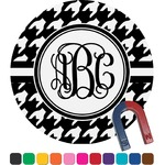 Houndstooth Round Magnet (Personalized)
