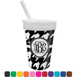 Houndstooth Sippy Cup with Straw (Personalized)