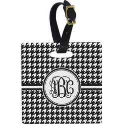 Houndstooth Square Luggage Tag (Personalized)