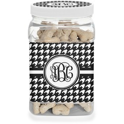 Houndstooth Dog Treat Jar (Personalized)