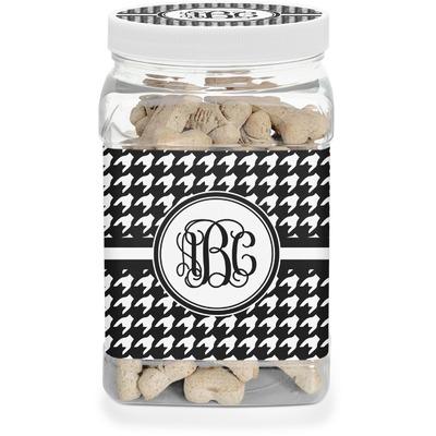 Houndstooth Dog Treat Jar (Personalized)