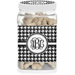 Houndstooth Pet Treat Jar (Personalized)